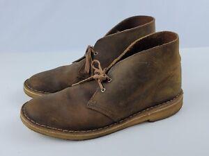 Clarks Originals Chukka Desert Boots Men's 10 M Brown Leather Crepe Sole 11826
