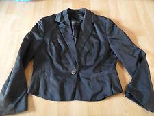 MARC CAIN chicer leicht glänzender Kurzblazer schwarz Gr. N3 TOP 816