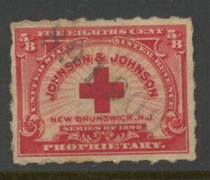 US SCOTT# RS286  Private Die Propriety Stamp. Johnson & Johnson. Used
