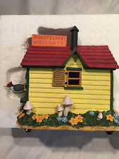 The Symphony Co Music Box Birdhouse: Woodpecker Wrecking Co. Not Working Display