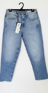 G-STAR Lanc 3D NEW High Waist Straight Womens Jeans 27x30 RRP $230 **FADED LEG**