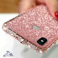 Bling Diamond Metal Alu Bumper Case Glitter Sticker For iPhone X XS Max 7 8 Plus
