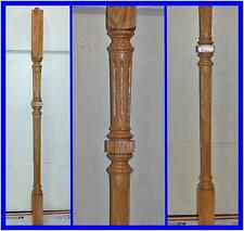 """Lot of 4 NOS Wood Stair Spindle Balusters Railing Posts Oak 34.5"""" x 1.75"""""""