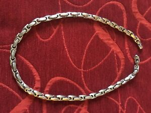 Stainless Steel Men's Necklace and Bracelet