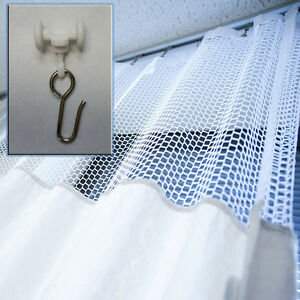 STANDART CURTAIN HOOK WITH WHEEL ROLLERS FOR HOSPITAL CUBICLE TRACK, 10 PCS