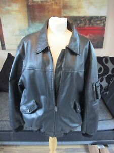 Mens Thick Italian Real Leather Black Rino & Pelle Jacket Size XL >>STUNNING<<