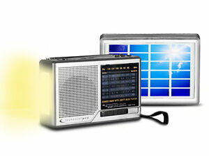 Portable Solar Powered and Battery Operated AM/ FM/ SW Radio, Built-in Speaker a