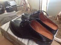 Jeffrey Campbell Ravel Black Leather Business Mule/Clog 9-9.5M (9.5) MSRP $185