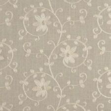 Floral Linen Blend Tab Top Curtains