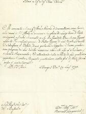Richiesta di Intervento contro il Sacerdote Inadempiente in Busseto Parma 1791
