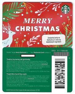 Geschenkkarte Starbucks Card Poland Polen Weihnachten Merry Christmas -0731-