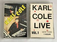 Lot of 2 KARL COLE Cassette Tapes ~ Six Soundsational Keyboards, Love Vol. 1