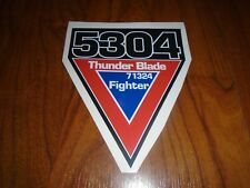 Sega Thunderblade Arcade Deluxe Decal Cockpit Sticker Thunder 5304 triangl badge