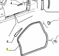 Alfa Romeo GTV Nearside, Left Hand Door Aperture Seal 60624860 New Genuine