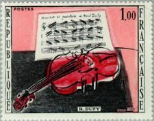 """FRANCE - 1965 - Famous Artist - Raoul Dufy """"The Red Violin"""" - MNH - Sc.#1117"""