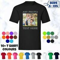 Personalised Photo Custom Men T-Shirts Graphic Shirt Short Sleeve Cotton Top Tee