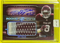 🔥2012 SPx JEFF FULLER 🎱Rookie Auto Jersey Patch Texas A&M Aggies #/25 HTF👀🤯