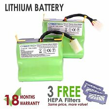 SUPER LONGLIFE Replacement Lithium Li-Ion Battery 4 Neato XV with 3x HEPA Filter