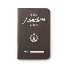 "Pack of 3 Word Notebooks, Pocket Size, 3.5"" x 5.5"", Adventure Log, Black"