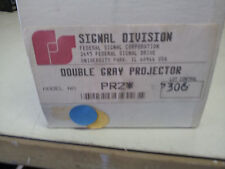 Federal Signal Pr2* New In Box Double Grey Projector #B67