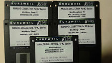 KURZWEIL ~ COMPLETELY MOOG ~ 5 Disk Set ~ K2000/K2500 w/VAST PROGRAMMINGS!!!