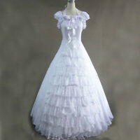 Lolita Victorian Gothic Short Sleeves White Fancy Dress Uniform Cosplay Costume