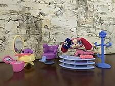 Littlest Pet Shop (Lps) Authentic #2508 Pink King Charles Spaniel Dog Furry Ears