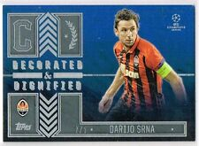 Champions League SHOWCASE 2016 Srna - Shakhtar Decorated & Dignified Card #2/5