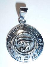 Anhänger Kette HORUSAUGE Talisman Amulett ECHT 925 Silber Schutzsymbol SS106