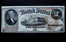 1880 $2 UNITED STATES NOTE ✪ XF EXTRA FINE ✪ LARGE BROWN SEAL RED SN ◢TRUSTED◣