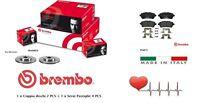 09A96824-P24072 Dischi + Pastiglie Freno Anteriori Brembo Ford Fiesta VI