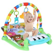 3-in-1 Plastic Baby Light Musical Gym Play Mat Lay Play Fitness Fun Piano Toy