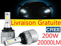 H1 H7 H11 H4 H3 KIT AMPOULES LED  VOITURE 20000LM CREE PHARE LAMPARA XENON BLANC