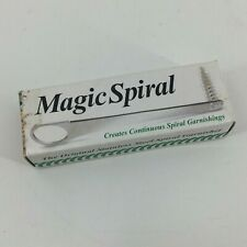 Boxed Metal Stainless Steel Magic Spiral Vegetable Garnisher