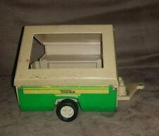 VINTAGE 1970s TONKA Green Pressed Steel Pop Up Camper Trailer USA