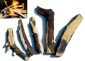 Gas Fire Logs – Set of 5 Extra Realistic Ceramic Logs Living Flame Fires