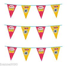 6M Hippie Hippy Peace CND Campervan Partyware Party Bunting Garland Decoration