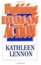 EXPLAINING HUMAN ACTION - NEW PAPERBACK BOOK