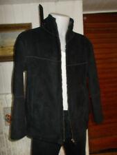 Veste chaude droite zip simili daim noir PIERRE CARDIN 54 interrieur chaud gris