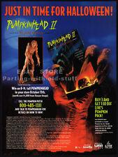 PUMPKINHEAD II: Blood Wings__Original 1994 Trade print AD promo_SOLEIL MOON FRYE