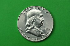 1954-S  GEM   BU  Mint State (Franklin) SILVER  Half  Dollar (90% SILVER)
