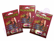 MIRACLEZEN  EXTREME X3 MALE PERFORMANCE ENHANCEMENT LIBIDO MEN STAMINA GROW LOT