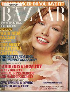 1973 Harpers Bazaar February-Serena Rhinelander;Gloria Vanderbilt;Linda Hackett
