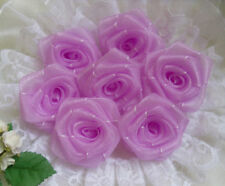 "1.5"" Light Purple Organza Ribbon Roses Flowers/ Appliques -Lots 24 Pcs(R0084U)"