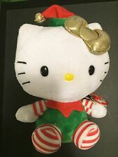 "Hello Kitty Christmas Elf 6"" Plush Toy TY Beanie Baby Holiday"