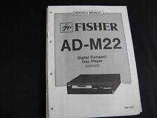 Original Service Manual Fisher AD-M22