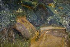 Gama (?) Peinture à l'huile/toile début XX° Petit chemin roche violette Lozère