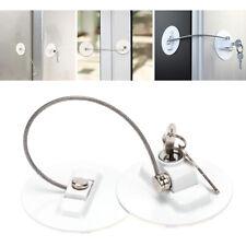 Refrigerator Cabinet Door Lock W/2 Key For Baby Kids Safety Window Fridge Door