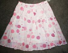 Full Circle Pink Jive Style Knee Length Summer Skirt - Cotton Lined ~ Size 10