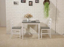 2 Seater Kitchen Table And Chairs Set Grey Dining Breakfast Compact E Saving